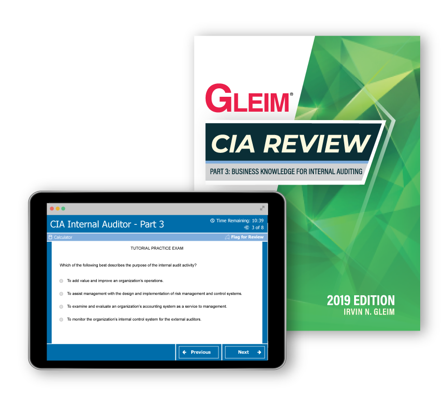 CIA Part 3: Internal Audit Knowledge Elements (Book & Test