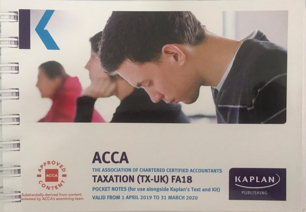 KAPLAN ACCA F6 Taxation TX (FA18 ) Pocket Notes upto March