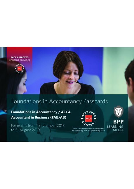 BPP ACCA F1/AB Accountant in Bussiness Pass Card - Valid upto August